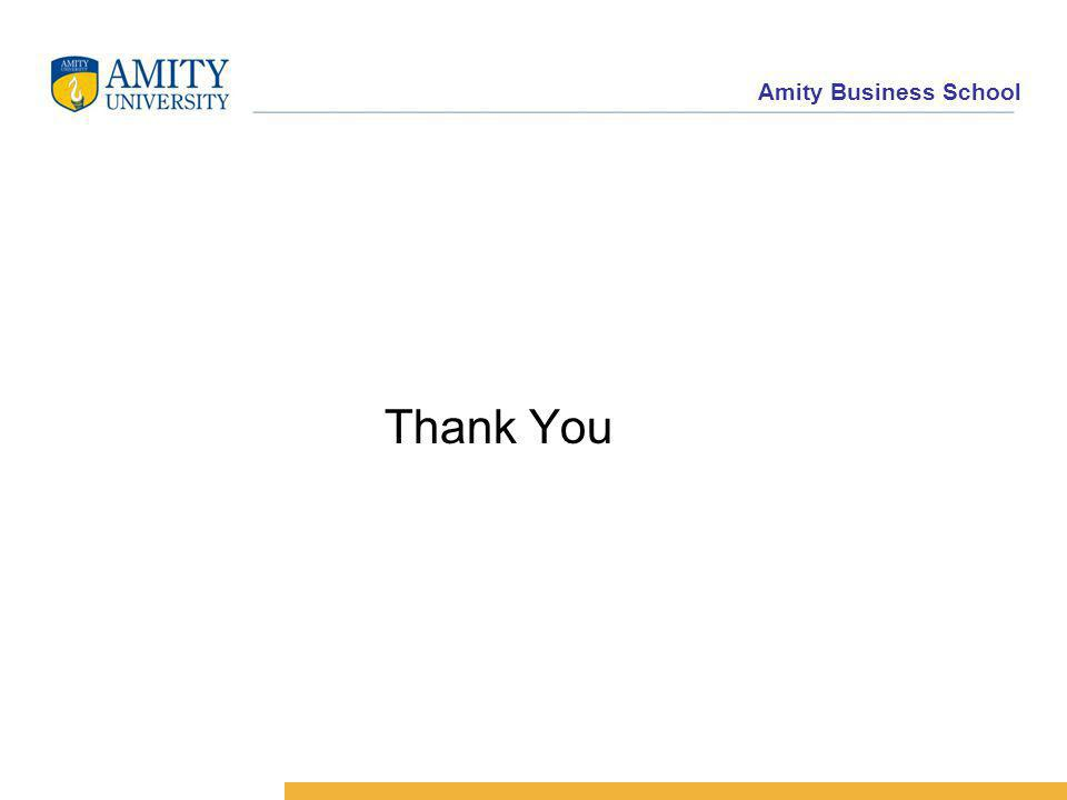 Amity Business School Thank You