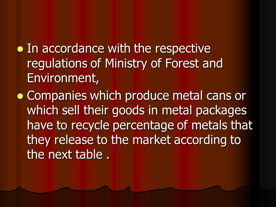 In accordance with the respective regulations of Ministry of Forest and Environment, In accordance with the respective regulations of Ministry of Fore