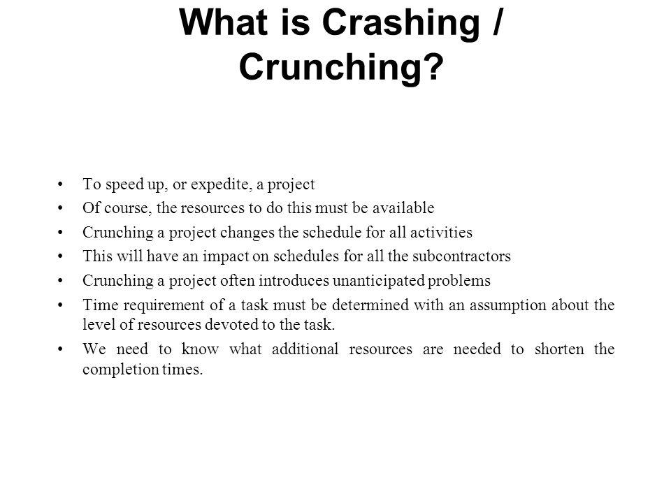 What is Crashing / Crunching.