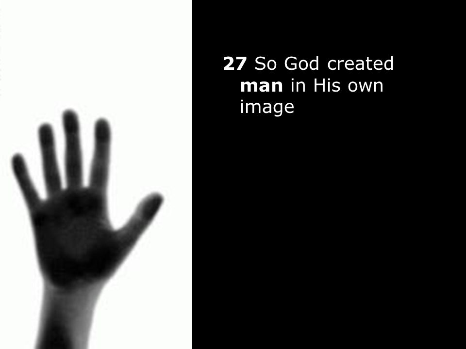 27 So God created man in His own image