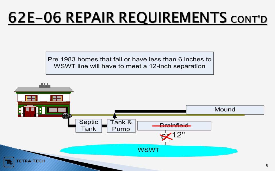 8 62E-06 REPAIR REQUIREMENTS CONT'D