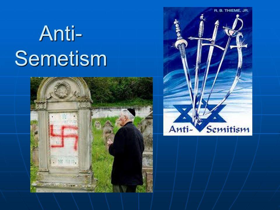 Anti- Semetism