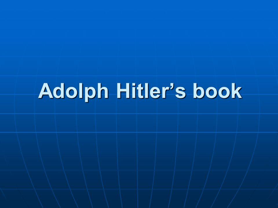 Adolph Hitler's book