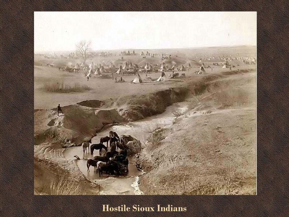General Miles Near Large Lakota Indian Camp