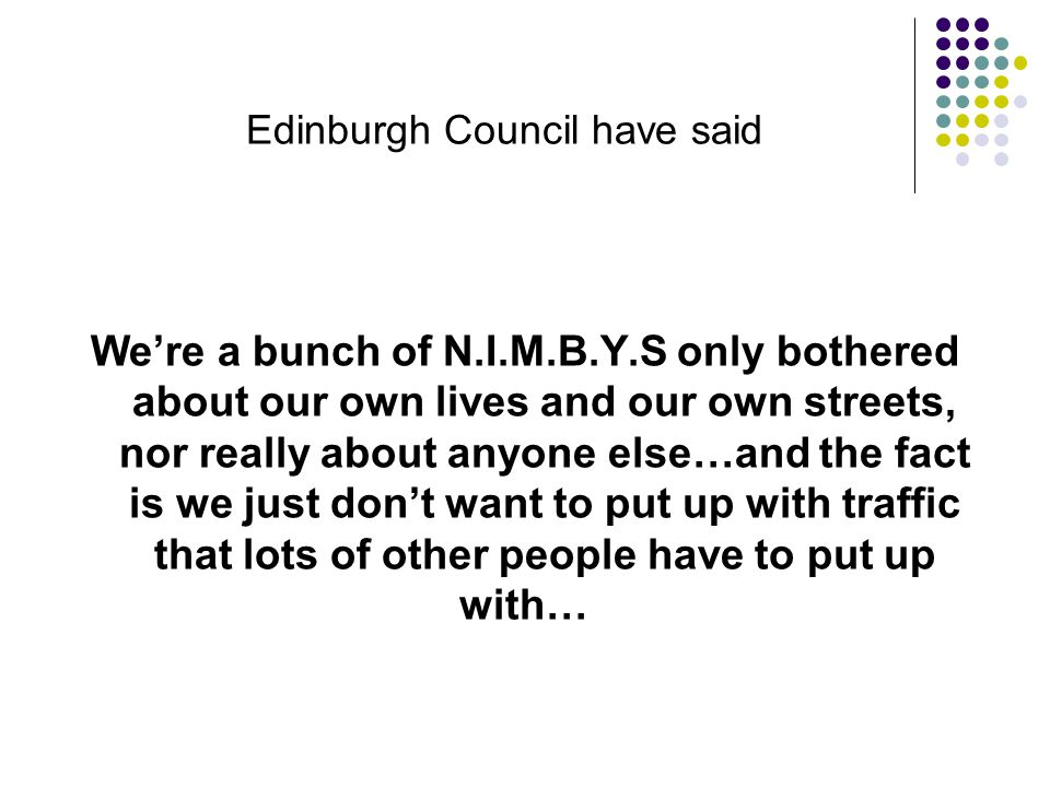 Edinburgh Council have said We take information and use it partially, or even that we misuse it, to produce scare stories and panic people