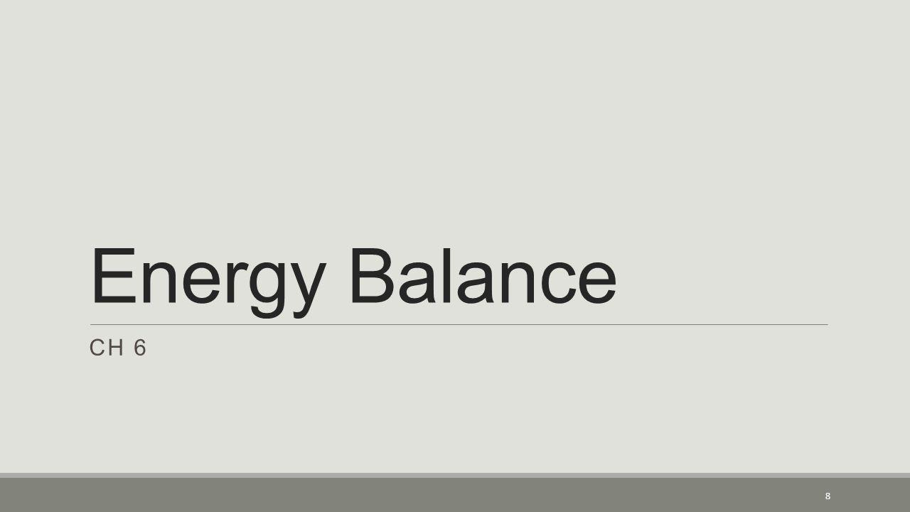Energy Balance CH 6 8