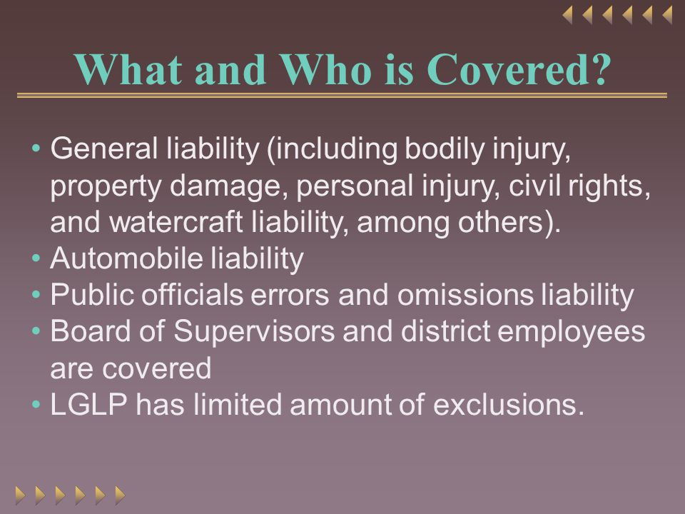 What and Who is Covered.