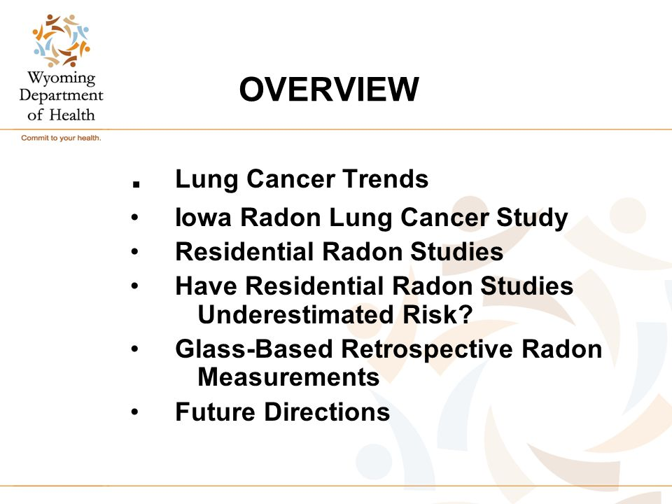 OVERVIEW. Lung Cancer Trends Iowa Radon Lung Cancer Study Residential Radon Studies Have Residential Radon Studies Underestimated Risk? Glass-Based Re