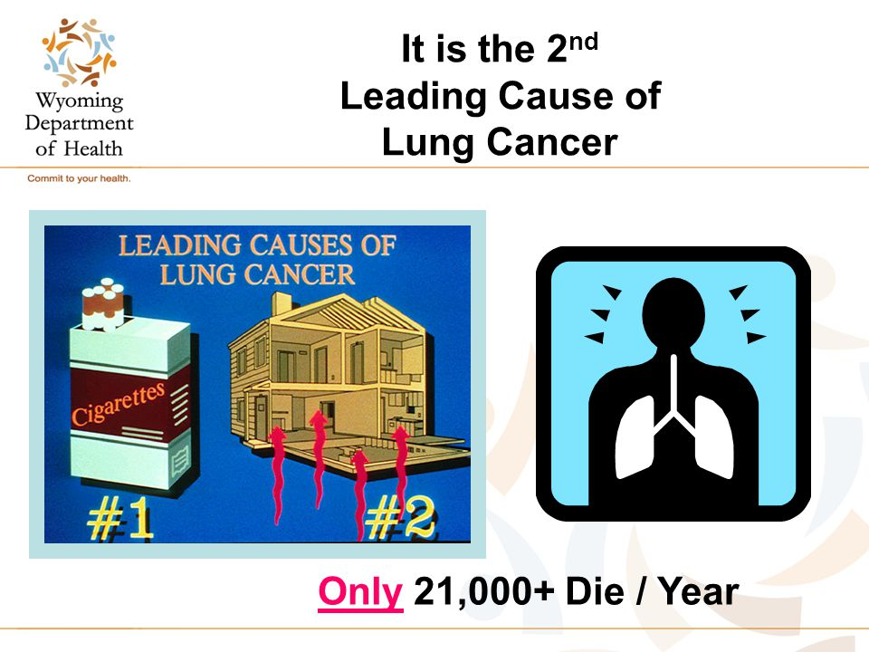 It is the 2 nd Leading Cause of Lung Cancer Only 21,000+ Die / Year