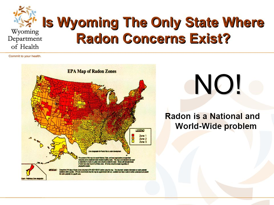 Is Wyoming The Only State Where Radon Concerns Exist.
