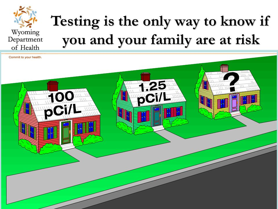 Testing is the only way to know if you and your family are at risk Residential Construction Team