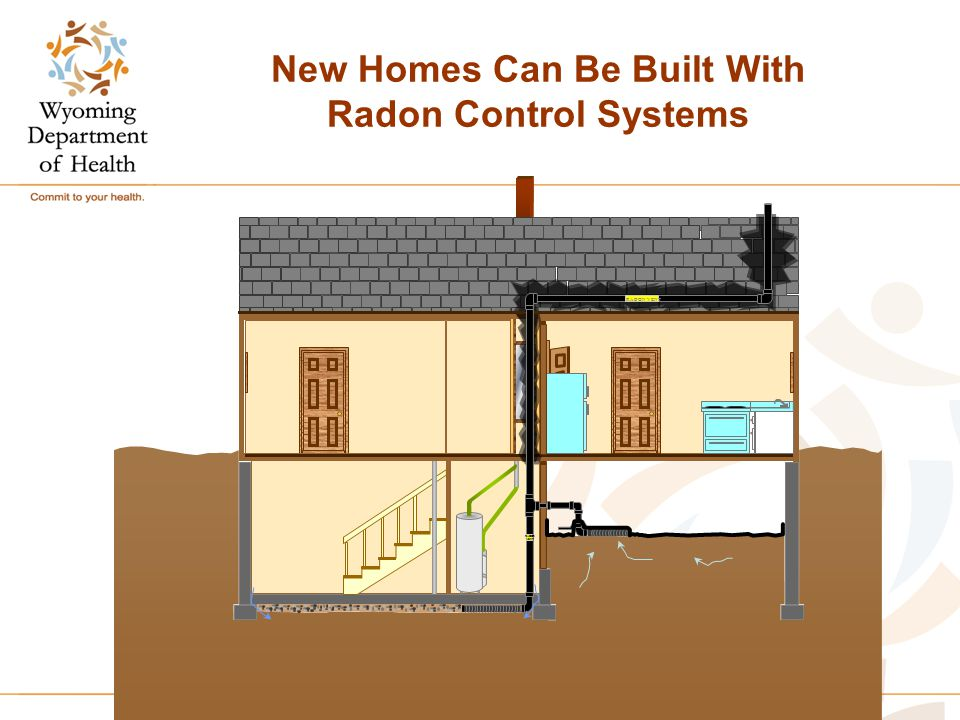 New Homes Can Be Built With Radon Control Systems RADON VENT RADON VENT
