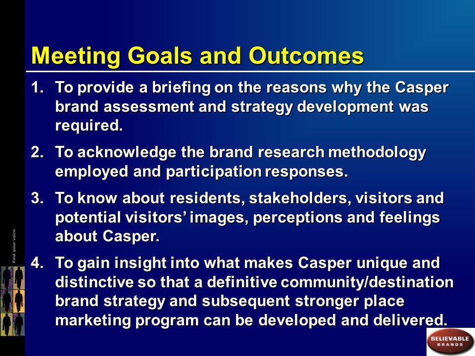 An Overview of the Casper Brand Assessment Program of Work