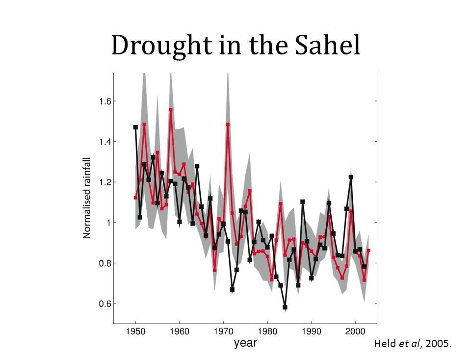 Drought in the Sahel Held et al, 2005.