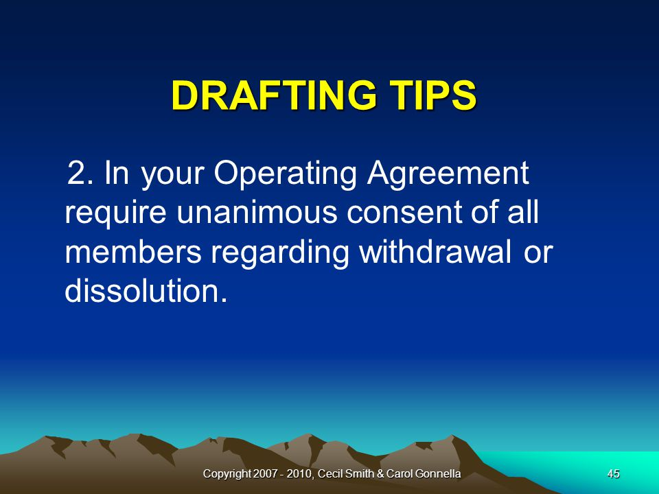 45 DRAFTING TIPS 2.