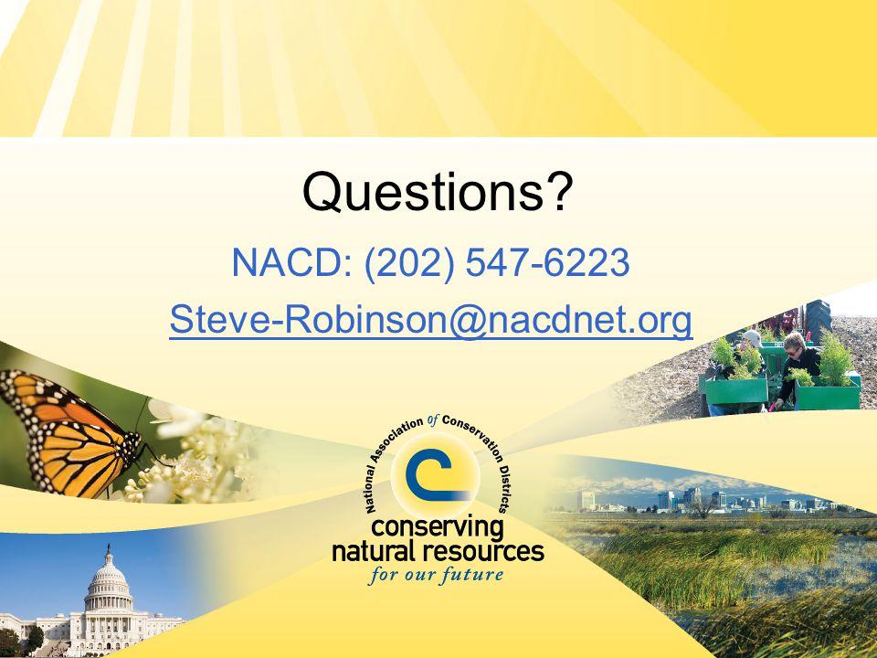 Questions? NACD: (202) 547-6223 Steve-Robinson@nacdnet.org