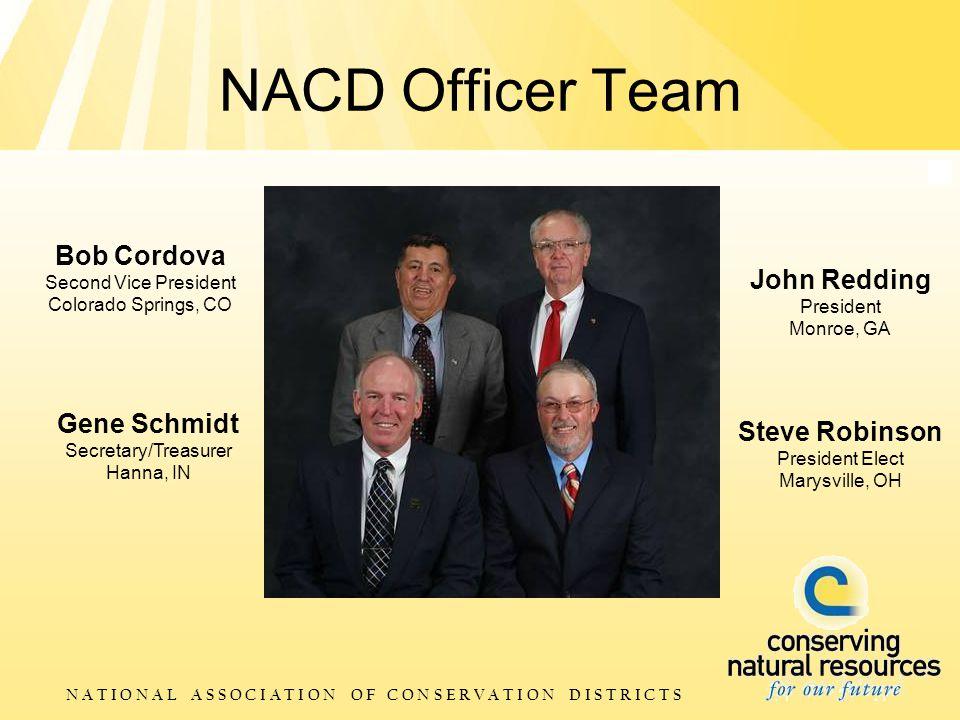 N A T I O N A L A S S O C I A T I O N O F C O N S E R V A T I O N D I S T R I C T S NACD Officer Team Steve Robinson President Elect Marysville, OH Bo