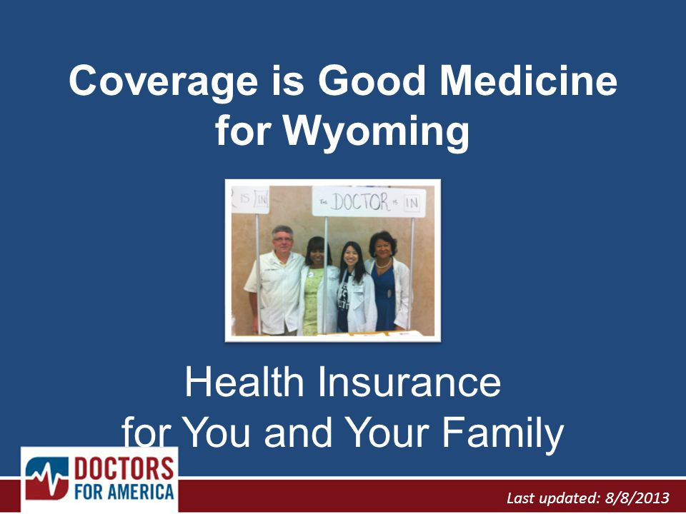 In Wyoming, 1 in 6 people has no health insurance.