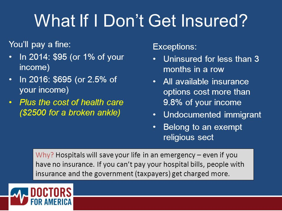 What If I Don't Get Insured.