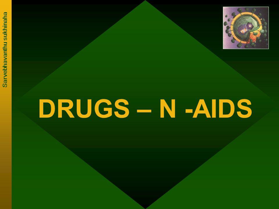 DRUGS – N -AIDS Sarvebhavanthu sukhinaha