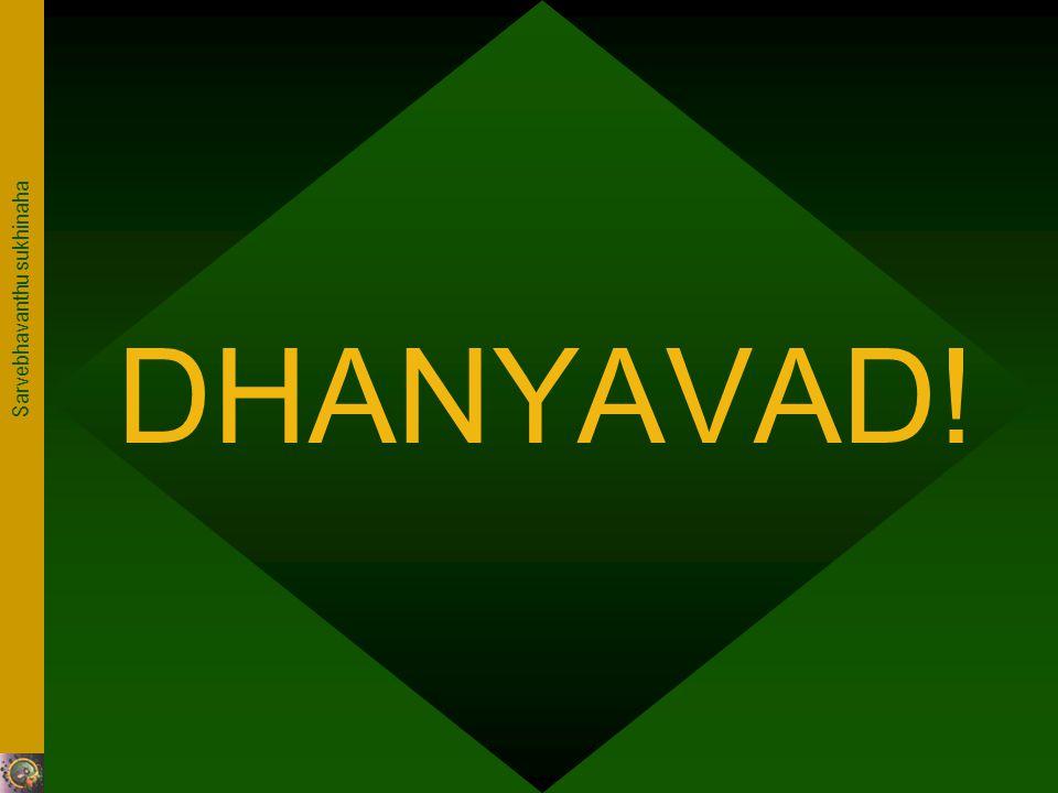 Sarvebhavanthu sukhinaha DHANYAVAD!