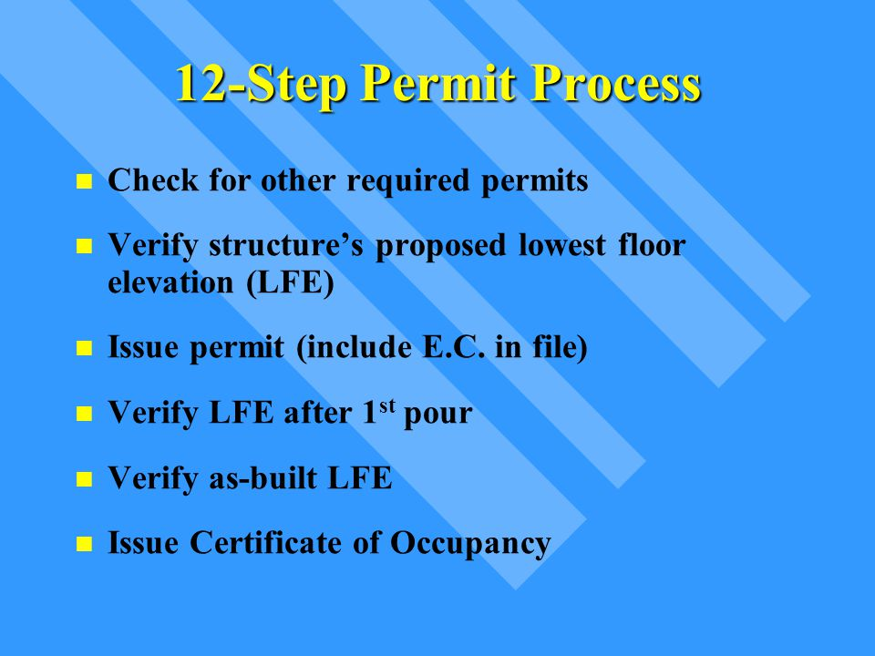 FF Permit Process Permitted Use (elevated on fill).