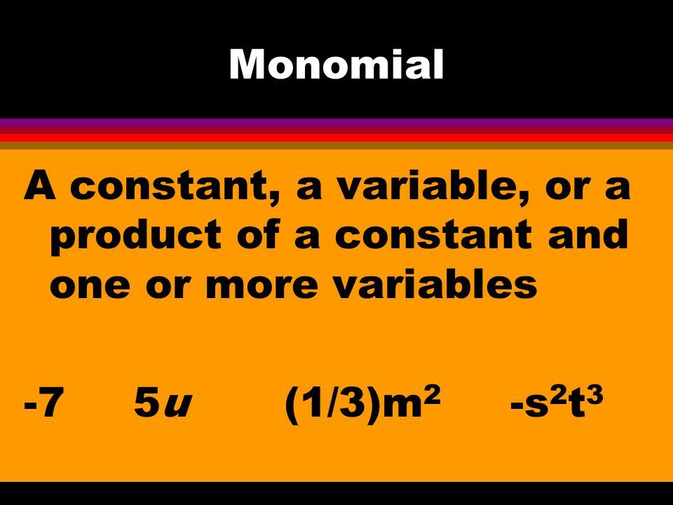 11-1 Add & Subtract Polynomials