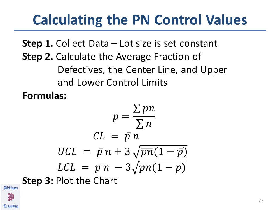 PN Control Data Chart