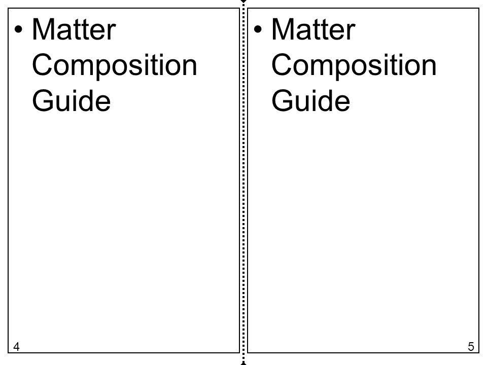 Matter Composition Guide 54