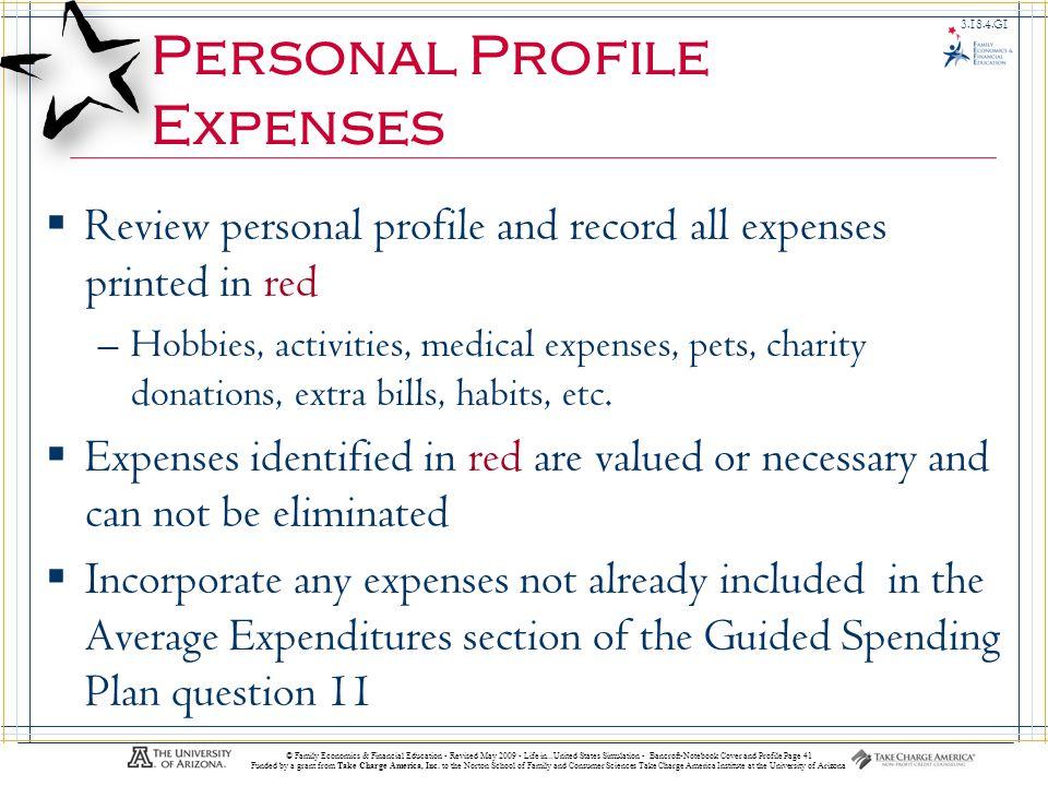 Life In…United States 3.18.3.G1 © Family Economics & Financial Education - Revised May 2009 - Life in...United States Simulation - Bancroft-Notebook C