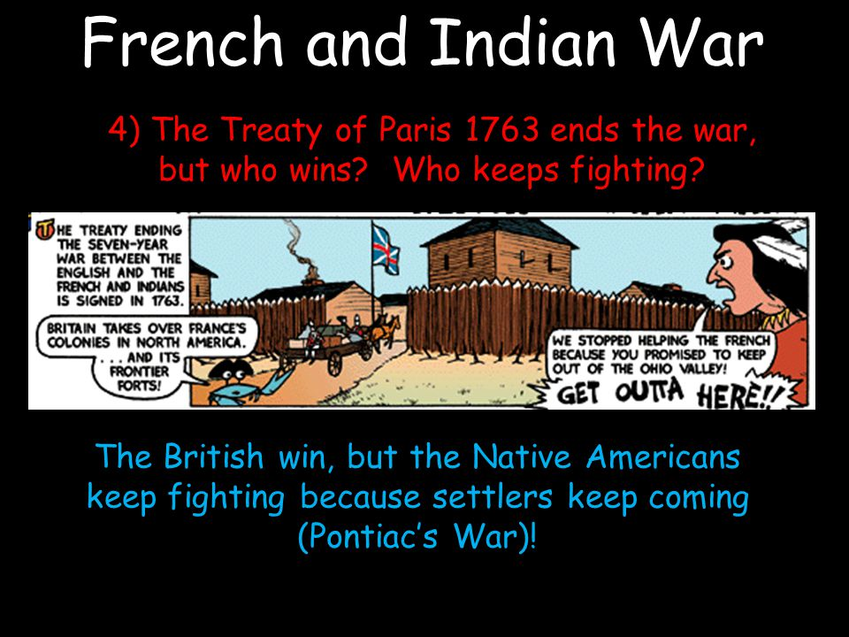 French and Indian War 4) The Treaty of Paris 1763 ends the war, but who wins.