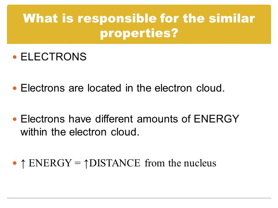 What is responsible for the similar properties.