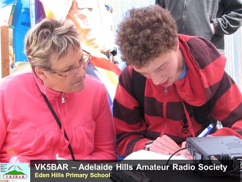 VK5BAR – Adelaide Hills Amateur Radio Society Eden Hills Primary School