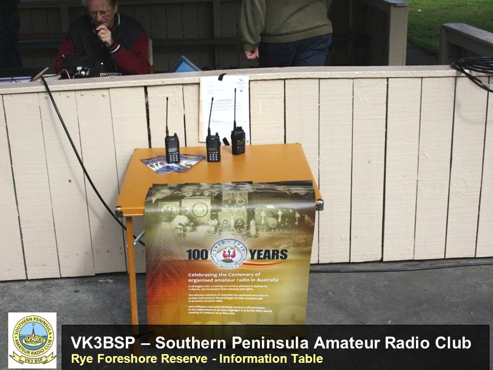 VK3BSP – Southern Peninsula Amateur Radio Club Rye Foreshore Reserve - Information Table