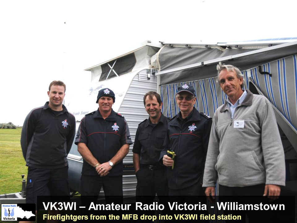 VK3WI – Amateur Radio Victoria - Williamstown Firefightgers from the MFB drop into VK3WI field station