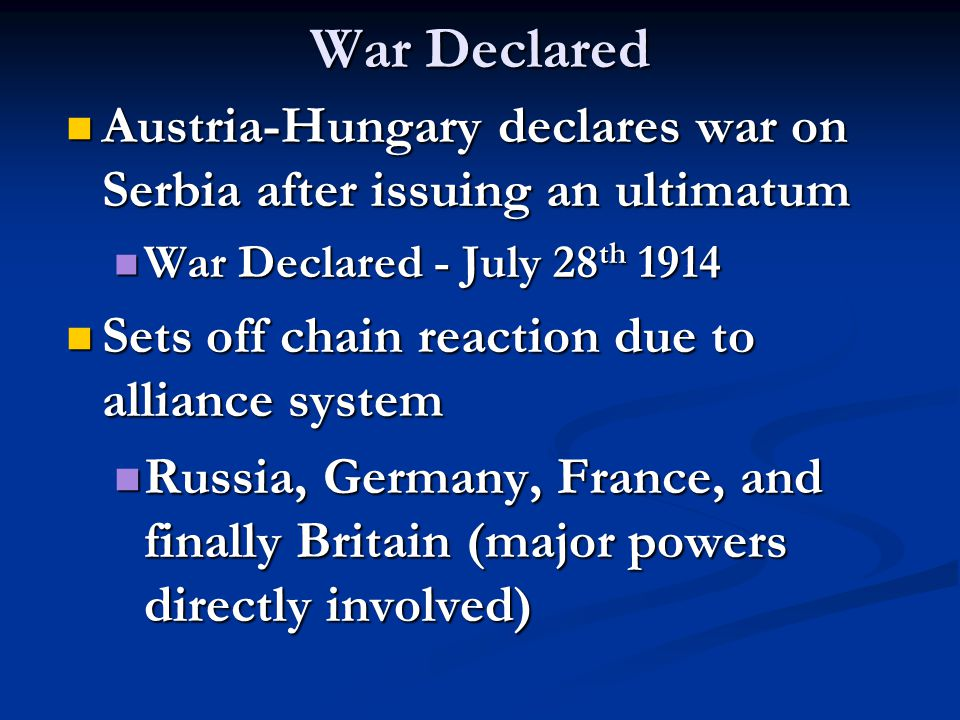 Long Term Consequences (cont.) Treaty creates bitterness and resentment Treaty creates bitterness and resentment Germany - as a result of Versailles Treaty: Germany - as a result of Versailles Treaty: Must accept full responsibility for the War Must accept full responsibility for the War Must pay war reparations (severe) Must pay war reparations (severe) Loses territory (Alsace/Lorraine and other) Loses territory (Alsace/Lorraine and other) Military limited (100,000 man army) Military limited (100,000 man army) Italy – did not gain territory Italy – did not gain territory League of Nations League of Nations U.S.