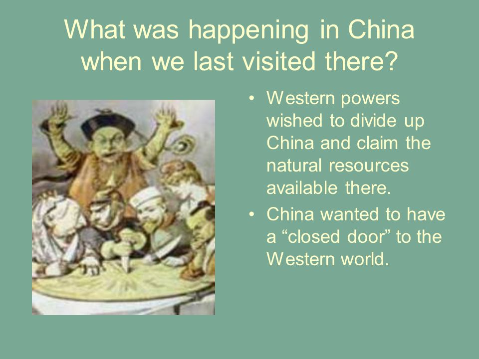 What was happening in China when we last visited there.