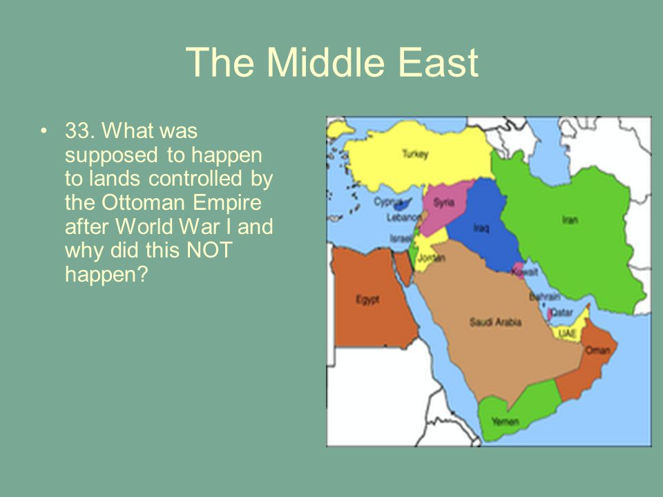 The Middle East 33.