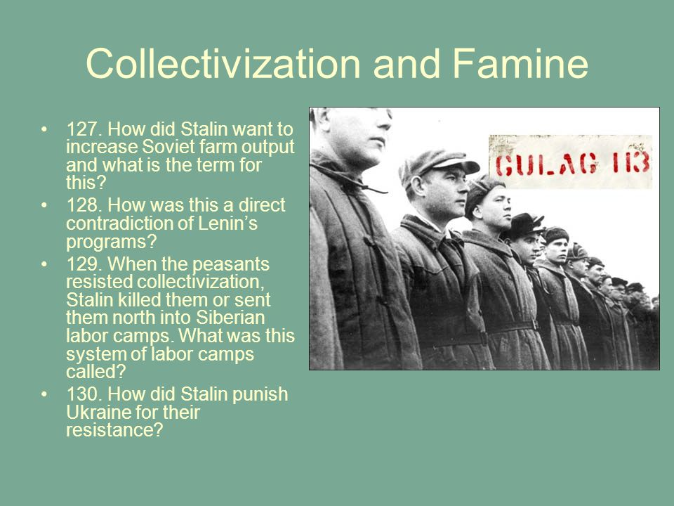 Collectivization and Famine 127.