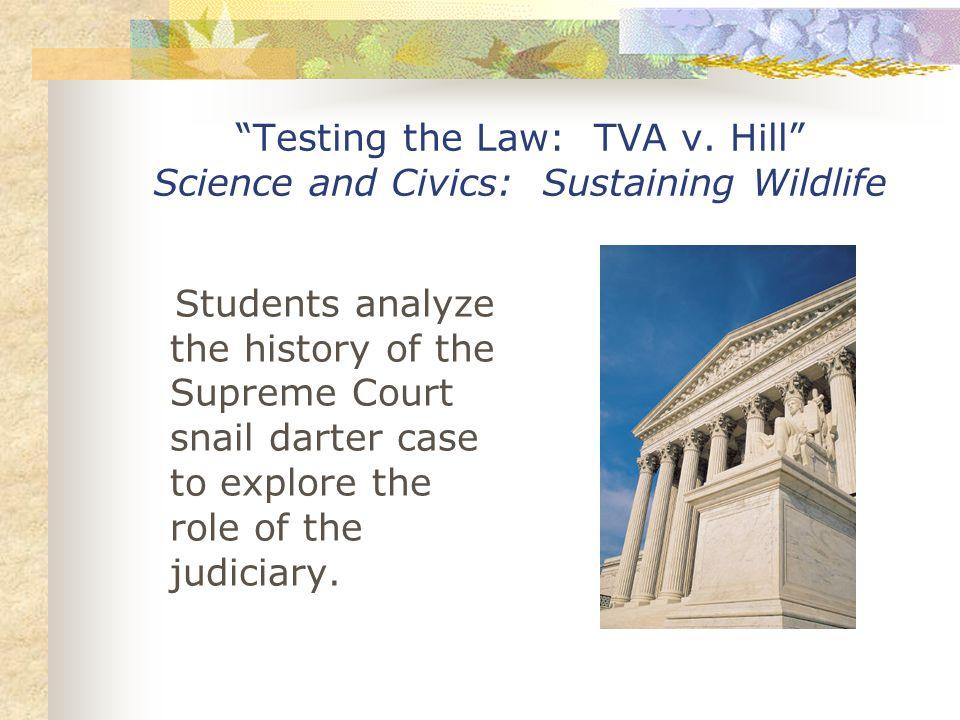Testing the Law: TVA v.