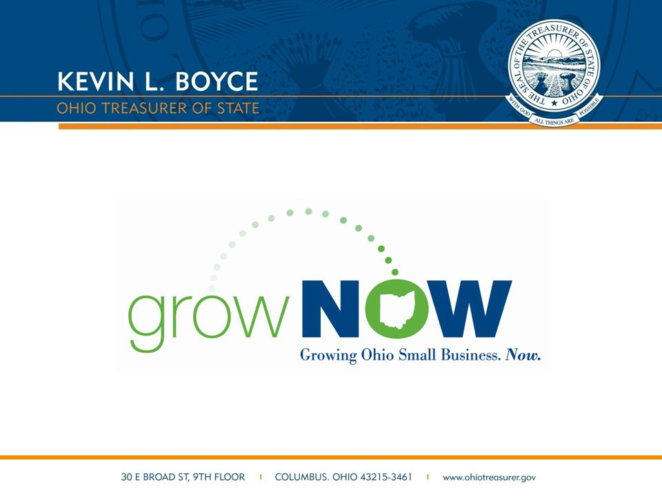 How do I know if my bank is eligible? Visit www.grownow.ohio.gov