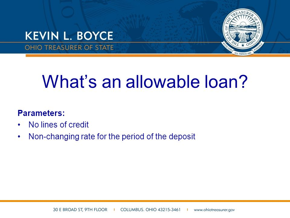 What's an allowable loan.