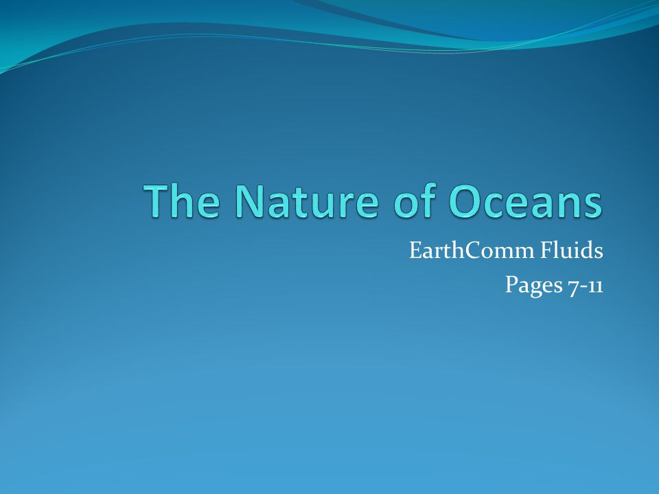 EarthComm Fluids Pages 7-11