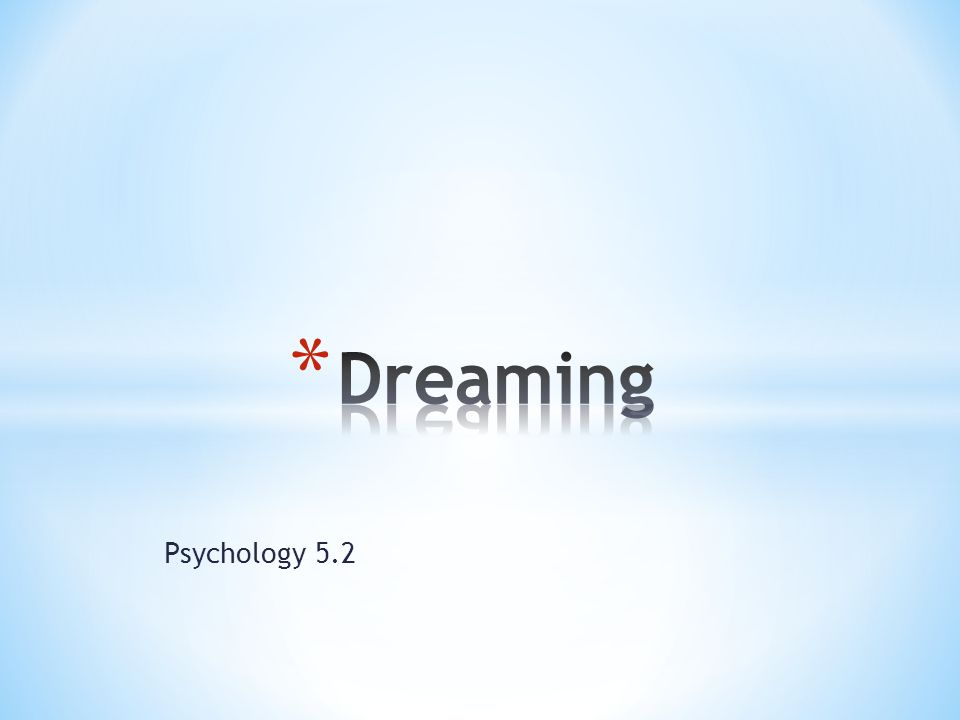 Psychology 5.2