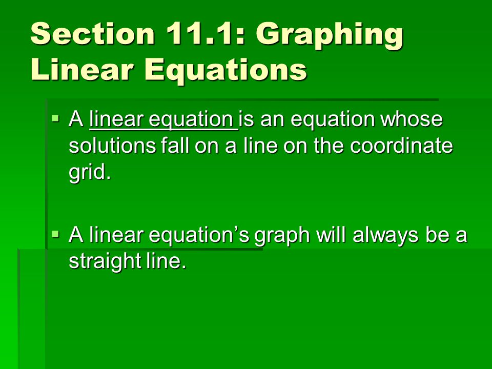 5 Steps to Graph any Equation 1.Choose a value for x.