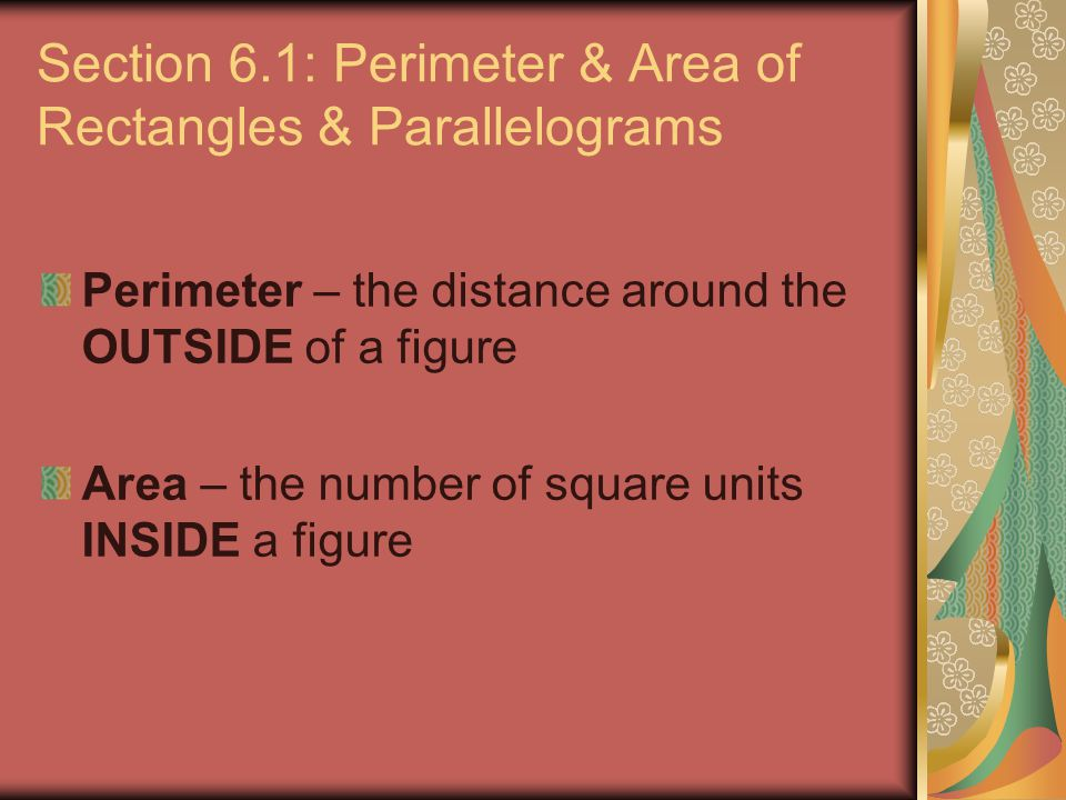 Finding the Area of a Circle.