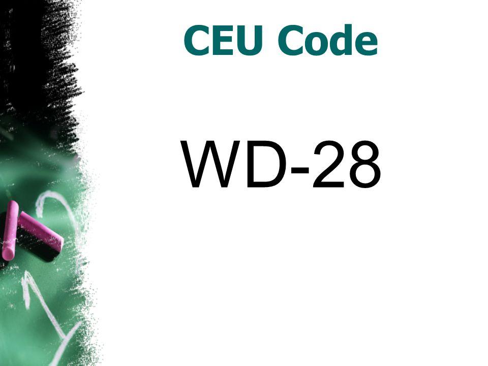 CEU Code WD-28