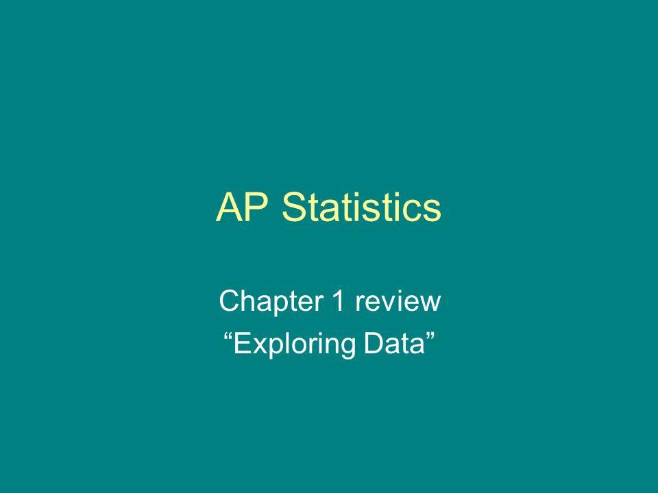 "AP Statistics Chapter 1 review ""Exploring Data"""