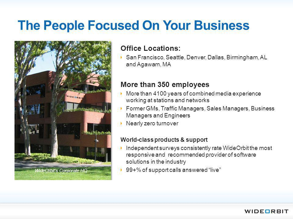 The People Focused On Your Business Office Locations: San Francisco, Seattle, Denver, Dallas, Birmingham, AL and Agawam, MA More than 350 employees Mo