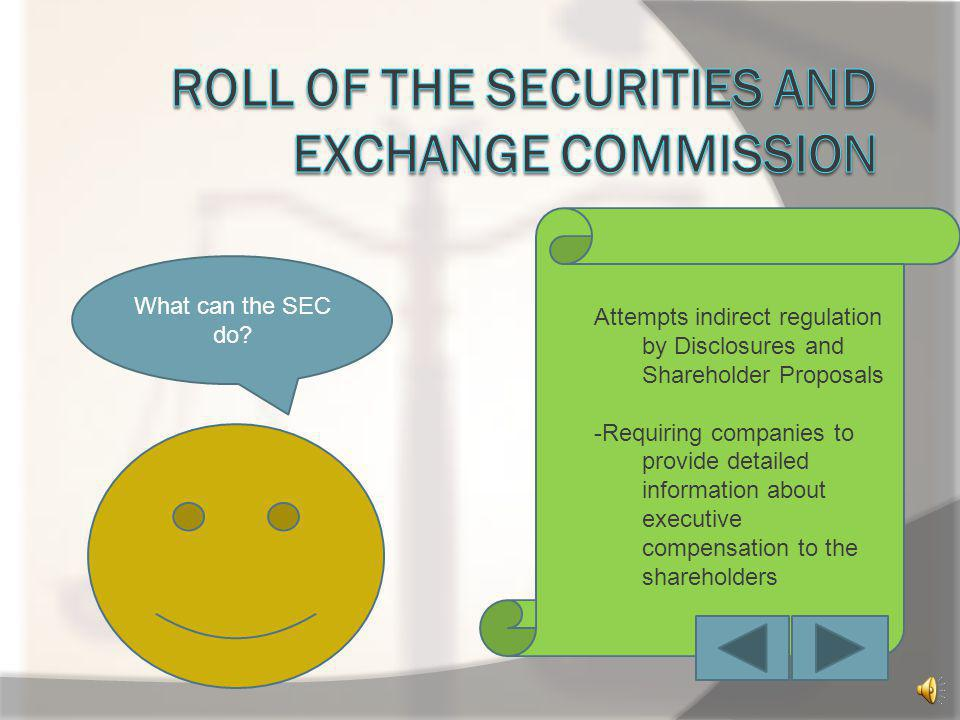 Three fundamental beliefs of the Securities Exchange Act of 1933 & 1934 1.Investors should be provided with full information prior to investing 2.Corp